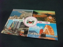 STORIA POSTALE FRANCOBOLLO  HONG KONG  VEDUTINE CHINESE JUNK ETC. - Cina (Hong Kong)