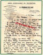 84-ST- SAINT SATURNIN LES AVIGNON- LETTRE MANUSCRITE SIGNEE J. PIBOULEAU- USINE DE LA PUSQUE-TRITURATION BOIS PHARMACIE- - Old Professions