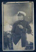 Cpa Carte Photo Officier à Bord D' Un Navire SEP17- 89 - Port Said