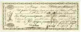LUGANO Schweiz 1822 Wechsel Für Camenzind In Gersau Guioni Svizzera - Bills Of Exchange