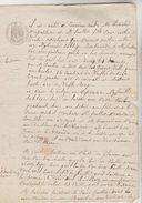 2 DOCUMENTS NOTARIAUX AVEC CACHETS FISCAUX 50 CENTS ET 70 CENTS POUR PAGE DOUBLE DU 10/09/1871 ET 12/04/1856 - Cachets Généralité