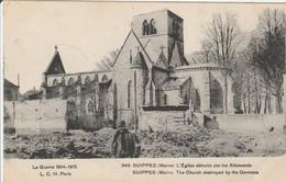 SUIPPES  L'Eglise Détruite - Autres Communes