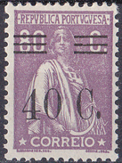 PORTUGAL  1928  80C Ceres- Bars Mess- - MNHOG No  Faults - 1910-... Republic