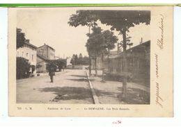 CPA-69-1904-LA DEMI-LUNE-LES TROIS RENARDS-ANIMEE-1 HOMME- - France