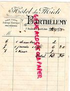 43- LE PUY- RARE FACTURE HOTEL DU MIDI- BARTHELEMY -7 BOULEVARD SAINT JEAN- - Old Professions