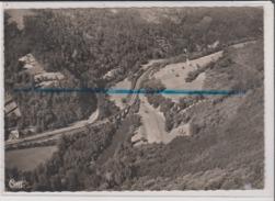 CPSM Grand Format - Les Bords De La Corrèze Vers La Gare D'AUBAZINE - Vue Aérienne - Cliché Ray Delvert Agen Villeneuve - France
