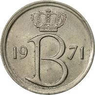Belgique, 25 Centimes, 1971, Bruxelles, SUP, Copper-nickel, KM:153.1 - 02. 25 Centimes
