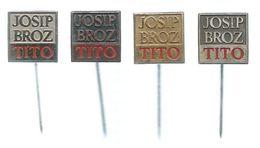 Josip Broz Tito,Yugoslavia,lot - 4 Pins - Celebrities