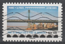France, Brooklin Bridge, New York City, 2017, VFU Self-adhesive - Used Stamps