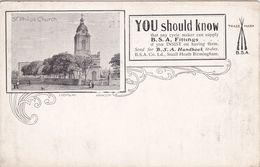 Vintage Advertising Postcard. B.S.A. Fittings. Birmingham. - Advertising