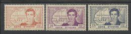 COTE D'IVOIRE 1939 YT 141/143** - MNH - Côte-d'Ivoire (1892-1944)