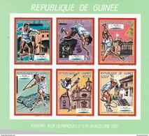 Republica De Guinea Nº Michel 1187B Al 1192B En Hoja Verde SIN DENTAR - Summer 1992: Barcelona