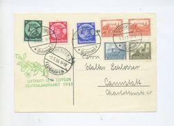 1933 3.Reich Zeppelin LZ 127 Deutschlandfahrt Karte Mit Satzfrankatur MI 479-481 + Mi 476 (2x), W43 Sieger 201Aa - Briefe U. Dokumente
