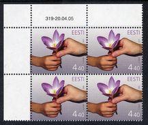 ESTONIA 2005 Mothers' Day Block Of 4  MNH / **.  Michel 514 - Estonia