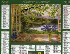 Calendrier Almanach La Poste PTT 2008 Peinture Aquarelle Tableau Stephen Darbishire - Calendars