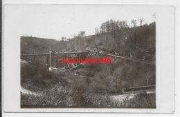 50 - Environs Ducey - Carte Photo -vallée Du Lait (sélune) Qasi Fin Chantier Du 1 Ier Pont (grue,coffrage)- Ttb - - Autres Communes