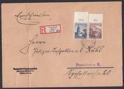 DR Orts-Einschreiben Brief MiF 681 682 POL Lochung Auf Beiden Marken Oberrandstücke 1938 Nach Frankfurt Gr16 - Deutschland