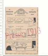 Presse 1913 Humour Escargot Animal Chat Curieux Panier Bourriche D'escargots Benjamin Rabier 216PF15 - Vieux Papiers