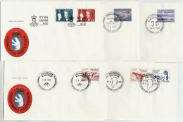 GREENLAND 1982 Complete Issues On FDC.  Michel  133-39 - FDC