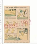 2 Scans Humour Chasse Au Lapin Meute Chiens Bâton Dynamite Métier Carrier Carrière Pierres Benjamin Rabier 216PF15 - Vieux Papiers