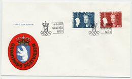 GREENLAND 1982 Queen Margarethe Definitive 1.50, 1.80 Kr On FDC.  Michel  134-35 - FDC