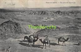 CPA  ALGERIE ALGERIA  DESERT DU SAHARA VUE PRISE DU COL DE SJA - Algérie