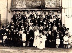 Gd Photo Originale Cartonnée Mariage & Famille Par G. Pétard à Saint-Julien-de-Concelles (44450) Balcon Fer Forgé - Personnes Anonymes