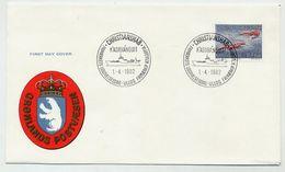GREENLAND 1982 Shrimps 10 Kr. Definitive On FDC.  Michel  133 - FDC