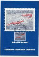 GREENLAND 1982 Shrimps 10 Kr. Definitive On Maximum Card.  Michel  133 - Maximum Cards