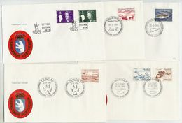 GREENLAND 1981 Complete Issues On FDC.  Michel  126-32 - FDC