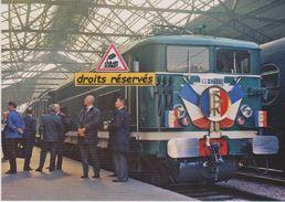 BB 17033 Et Train Inaugural (électrification Paris-Achères), à Paris-St-Lazare (75) - - Trains