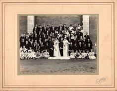 Gd Pochette Photo Originale Cartonnée Mariage Double & Famille Par G. Pétard à Saint-Julien-de-Concelles (44450) - Personnes Anonymes