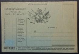 Carte De Franchise Militaire Illustrée COQ , Marianne , 6 Drapeaux . Carton Gris-vert - Postmark Collection (Covers)