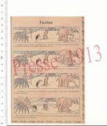 Presse 1913 Humour Animal éléphant Singes Noix De Coco Oiseau Marabout Benjamin Rabier 216PF15 - Vieux Papiers