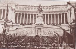 CARD ROMA SAGRA DELLA VITTORIA 4-11-1921-TUMULAZIONE DELLA SALMA DEL MILITE IGNOTO ALTARE PATRIA-FP-N-2-0822-27824 - Manifestazioni