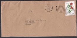 Zimbabwe: Cover To Netherlands, 1989, 1 Stamp, Flower (traces Of Use) - Zimbabwe (1980-...)