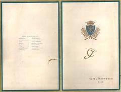 NICE MENU NEGRESCO 16.10.1950 - Menus