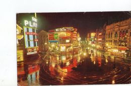 U1134 SMALL POSTCARD: Piccadilly At Night, LONDON + Nuit Nocturne Night Nacht _ Writed - Piccadilly Circus