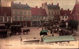 Oise - Mouy - Place Cantrel - Le Marché - Mouy