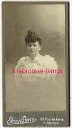 Format Mignonnette CDV 4,2 X 8cm- élégante Mode-photo Edouard Pierre à BREST - Photos