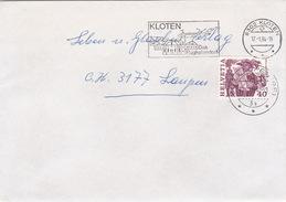 Brief Von Kloten, Marken Aus Markenheftchen MH (br2273) - Schweiz
