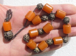 Dark Cherry Amber Bakelite Walking Stick Cane Handle - Damaged - Other Collections