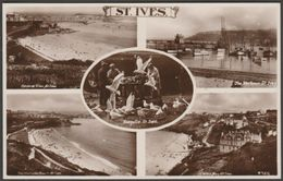 Multiview, St Ives, Cornwall, C.1930s - RP Postcard - St.Ives