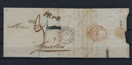 VOORLOPER UIT 1833 VAN Duitsland NAAR Gosselies MOOI STEMPELS SUPERBE - 1830-1849 (Belgique Indépendante)