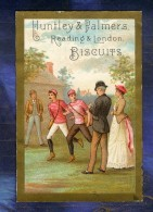 Chromo Huntley & Palmers Sport Course à Pied Race Running Victorian Trade Card - Confiserie & Biscuits