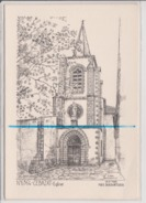 Carte Moderne Dépliante - CEBEZAT - Eglise - YVES DUCOURTIOUX - France