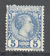 Monaco: Yvert N° 3*; Clair; Cote 103.00 - Monaco