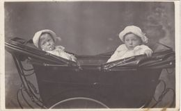 Vintage Postcard.2 Victorian?. Baby,s In Pram - Children And Family Groups