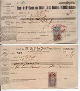 07 VERNOUX DOCUMENTS ARDECHE VIVARAIS Timbre Quittance Quittances - Historical Documents