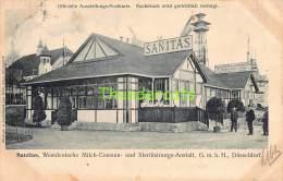 CPA OFFICIELLE AUSSTELLUNGS POSTKARTE SANITAS WESTDEUTSCHE MILCH CONSUM DUSSELDORF - Expositions
